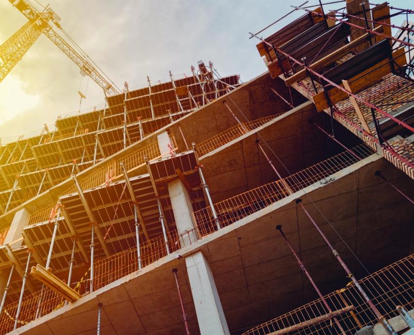Construction building jobsite