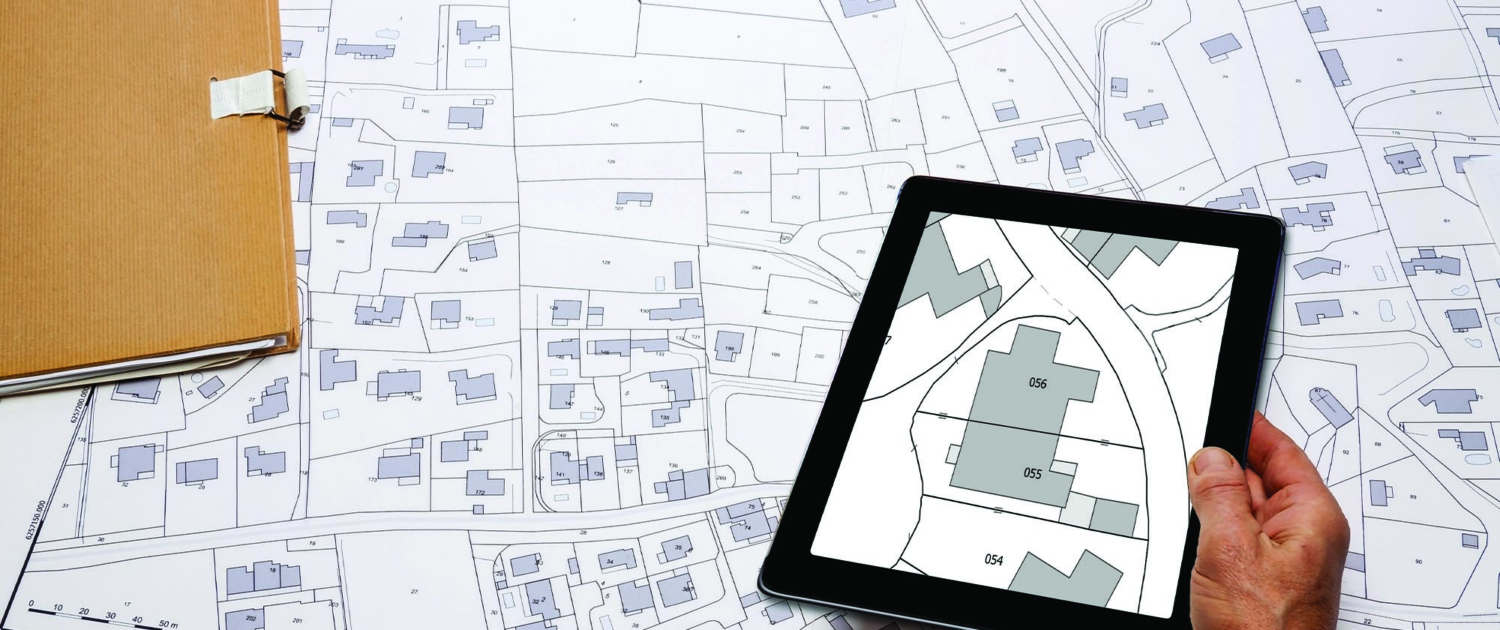 Construction layouts on a tablet for new construction georgia