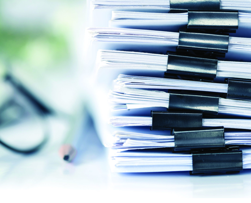 Stack of files and documents