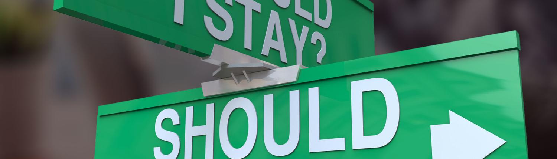 Should i stay should i go road direction signs